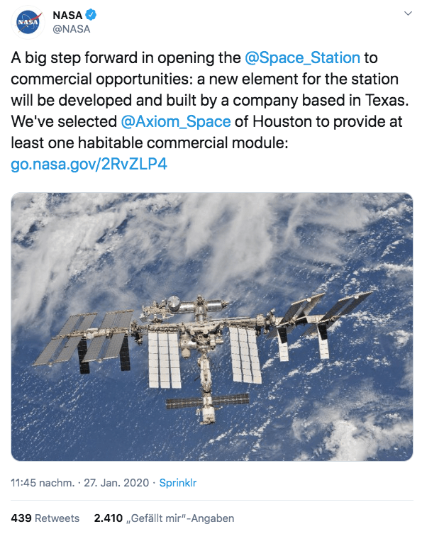 ISS, NASA, Raumstation
