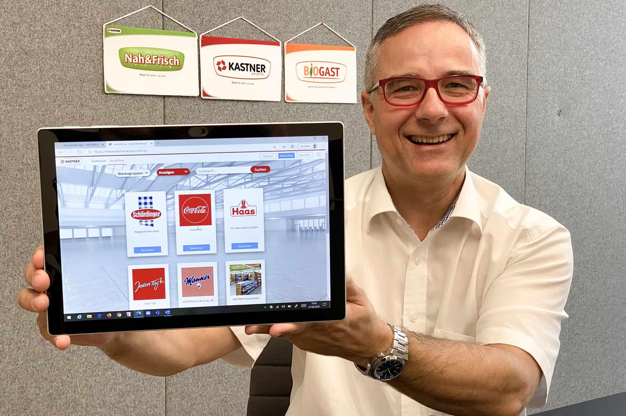 KR Christof Kastner präsentiert die digitale Lebensmittelmesse.