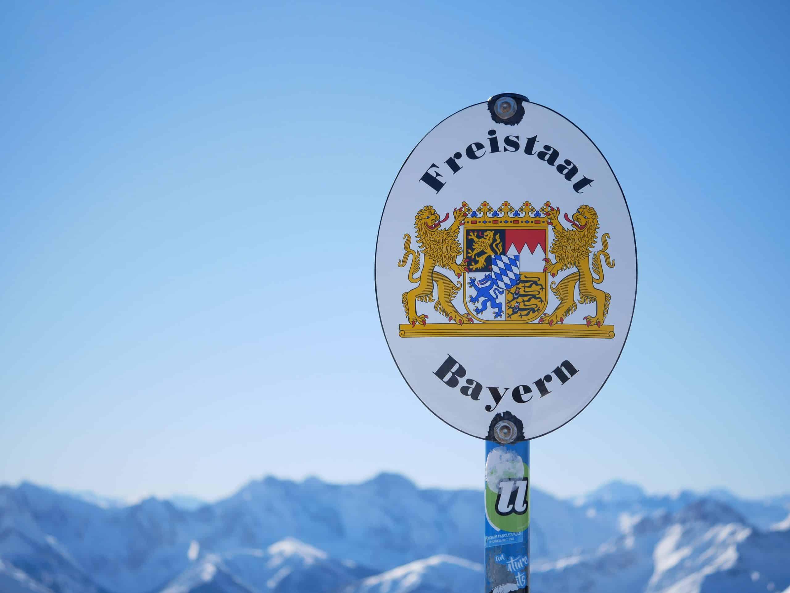 Grenzschild Bayern