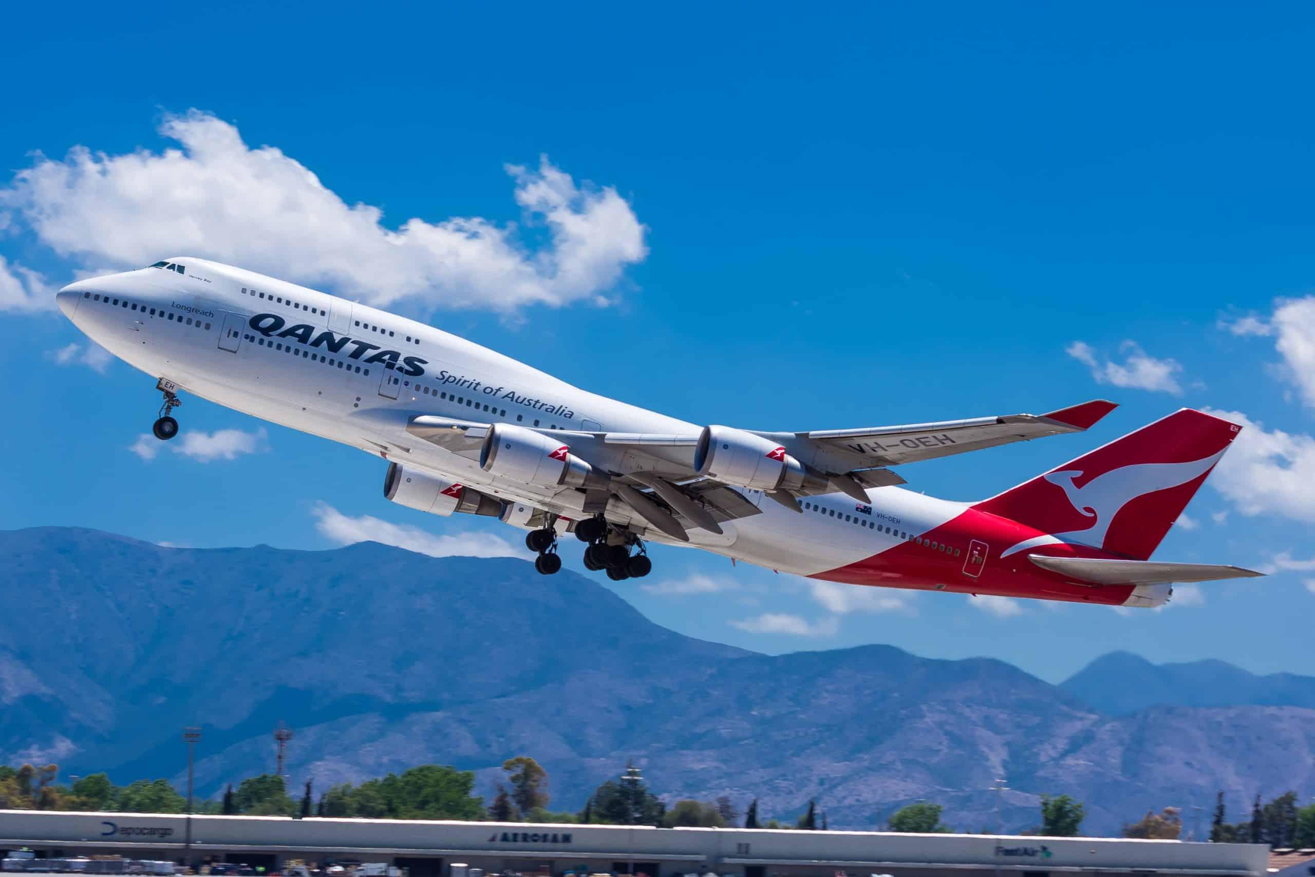 Flugzeug der australischen Airline Qantas