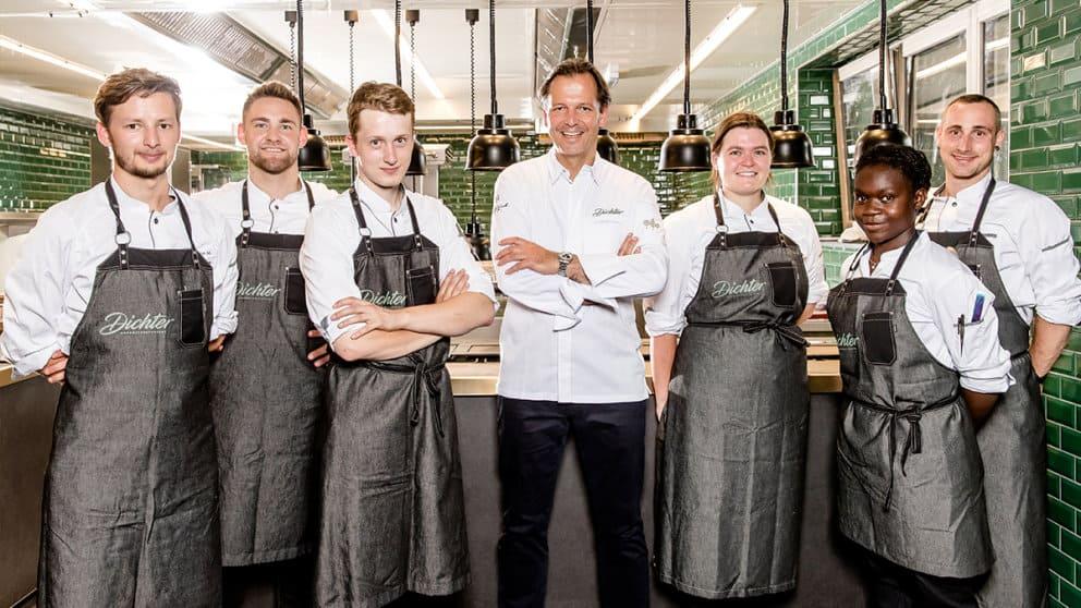 Das Team um Chefkoch Thomas Kellermann im Gourmetrestaurant Dichter